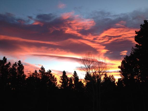 An incredible sunrise in January 2014.